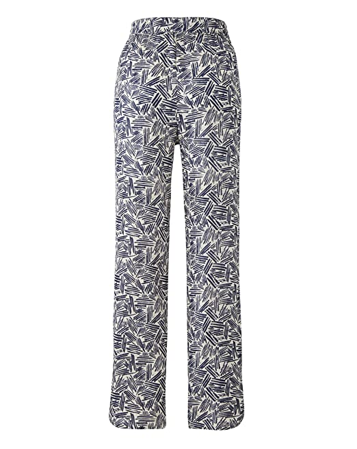 New Simply Be Ladies Jersey Wide Leg Palazzo Trousers Size 12  UK Navy Print