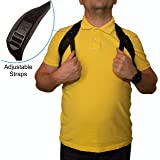 Your Health Posture Corrector for Women and Men - Back and Shoulder Support with Adjustable Straps - Ergonomic Orthopedic Design - Hunchback Spine Hump Chiropractic Correctors - Sitting Upright Body