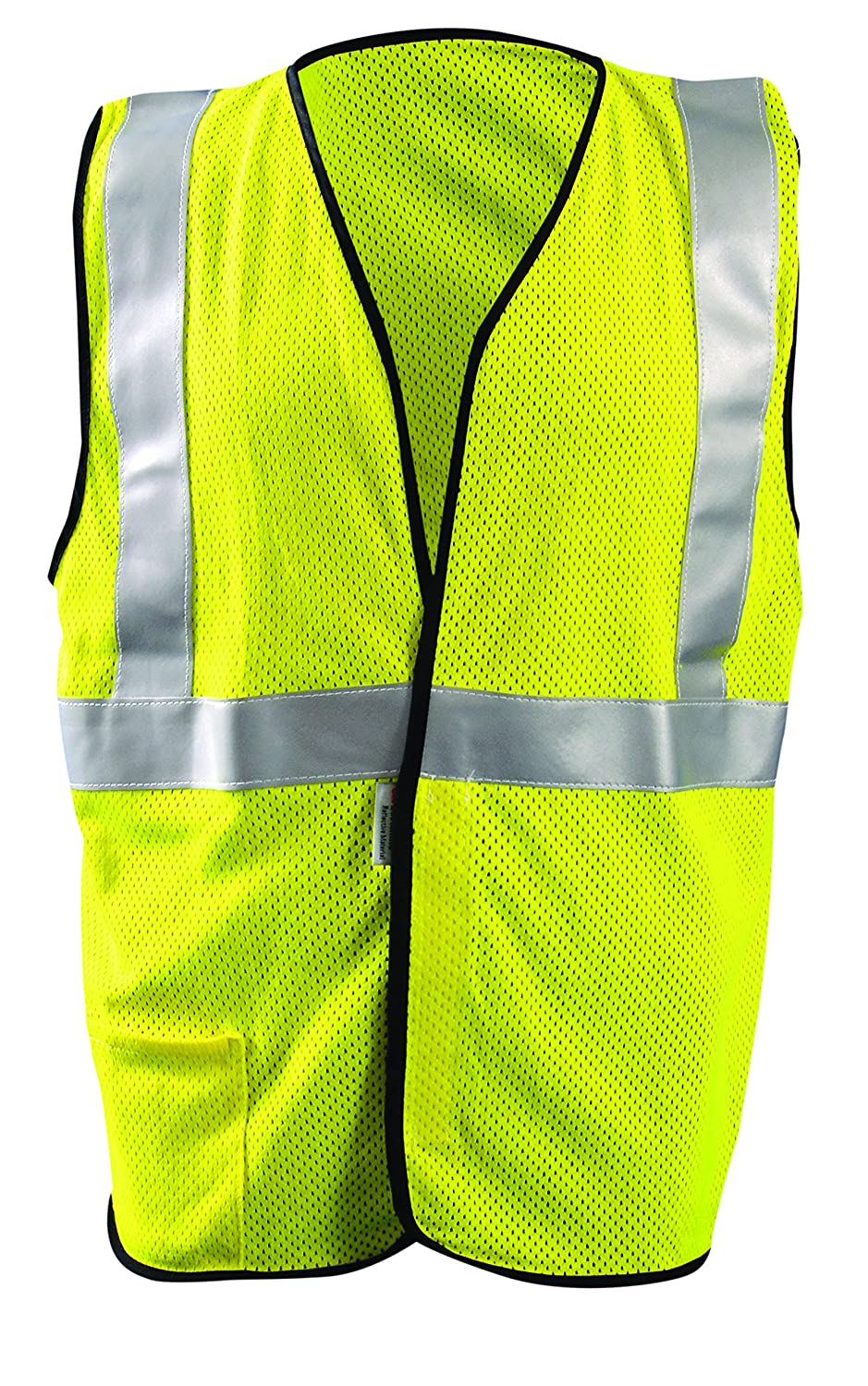 Occunomix LUX-HSFULLG-YM Class 3 Premium Solid Dual Stripe Visibility Vests, Medium, Yellow by Occunomix B004RI67BC