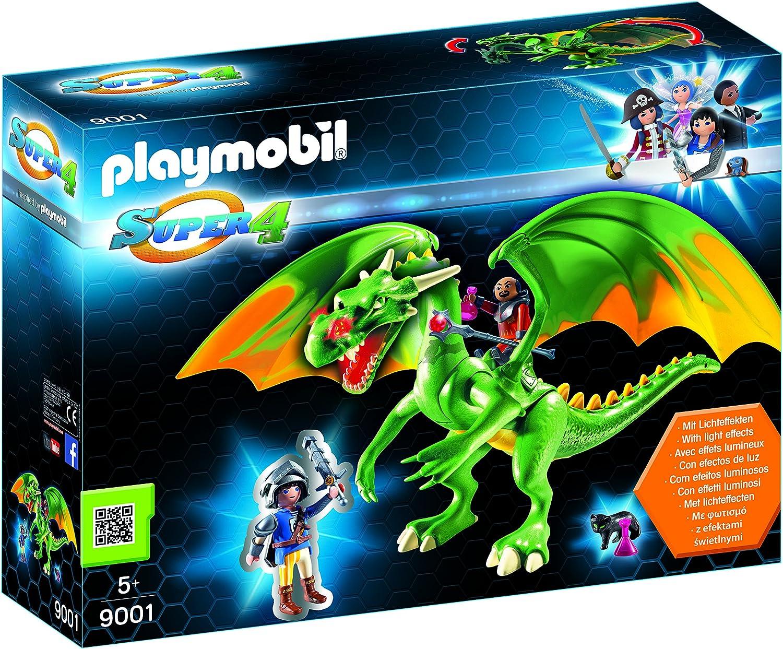 Playmobil-Dragón de Kingsland con Alex Personajes de la serie Super 4, multicolor, 43,5 x 12 x 32,5 cm 9001