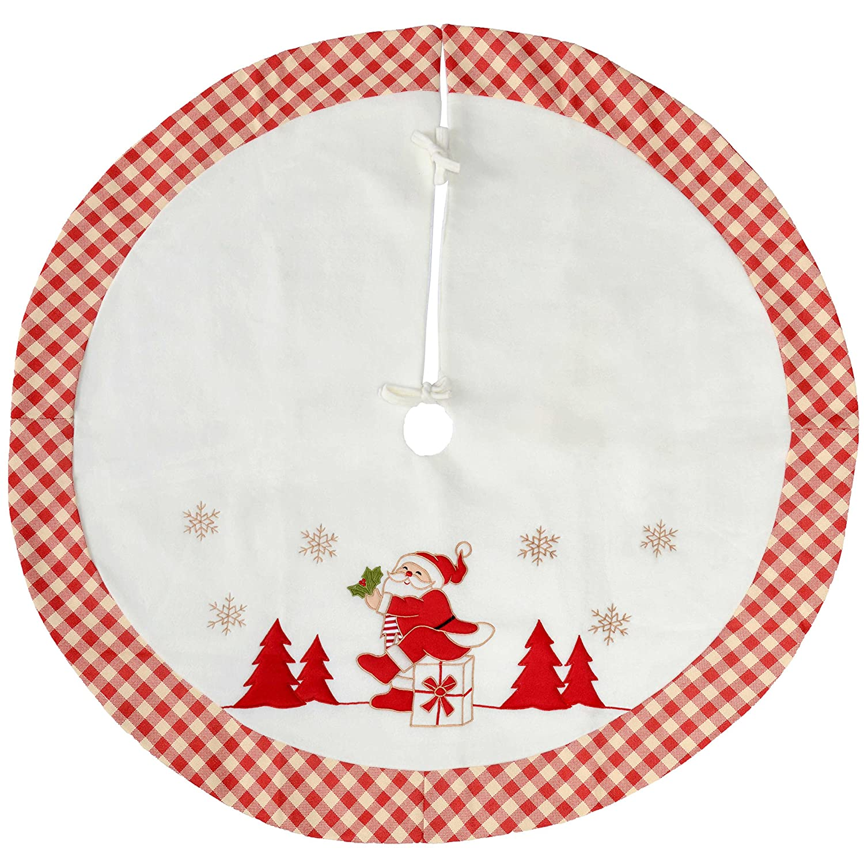 WeRChristmas Ho Ho Ho Christmas Tree Skirt Decoration Large 107 cm Multi-Colour