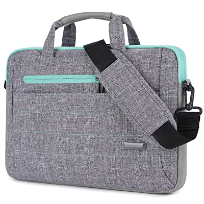 80%OFF Brinch 15 - 15.6 Inch Multi-functional Suit Fabric Portable Laptop Sleeve Case Shoulder Messenger Bag Briefcase for Laptop, Tablet, Macbook, Notebook - Grey-Green