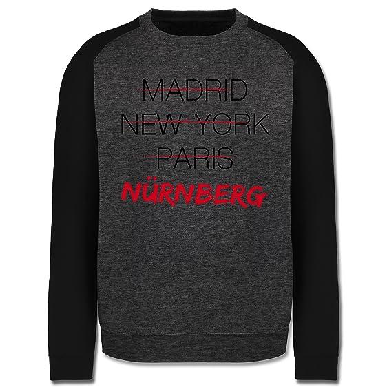 Städte & Länder - Weltstadt Nürnberg - S - Dunkelgrau meliert/Schwarz -  JH033 -