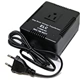 ELC 500 Watt Voltage Converter Transformer Heavy Duty Compact - Step Down - 220/240 to 110/120 Volt - Light Weight - Travel - For Hair Straightener, Toothbrush, TVs, Laptops, Chargers