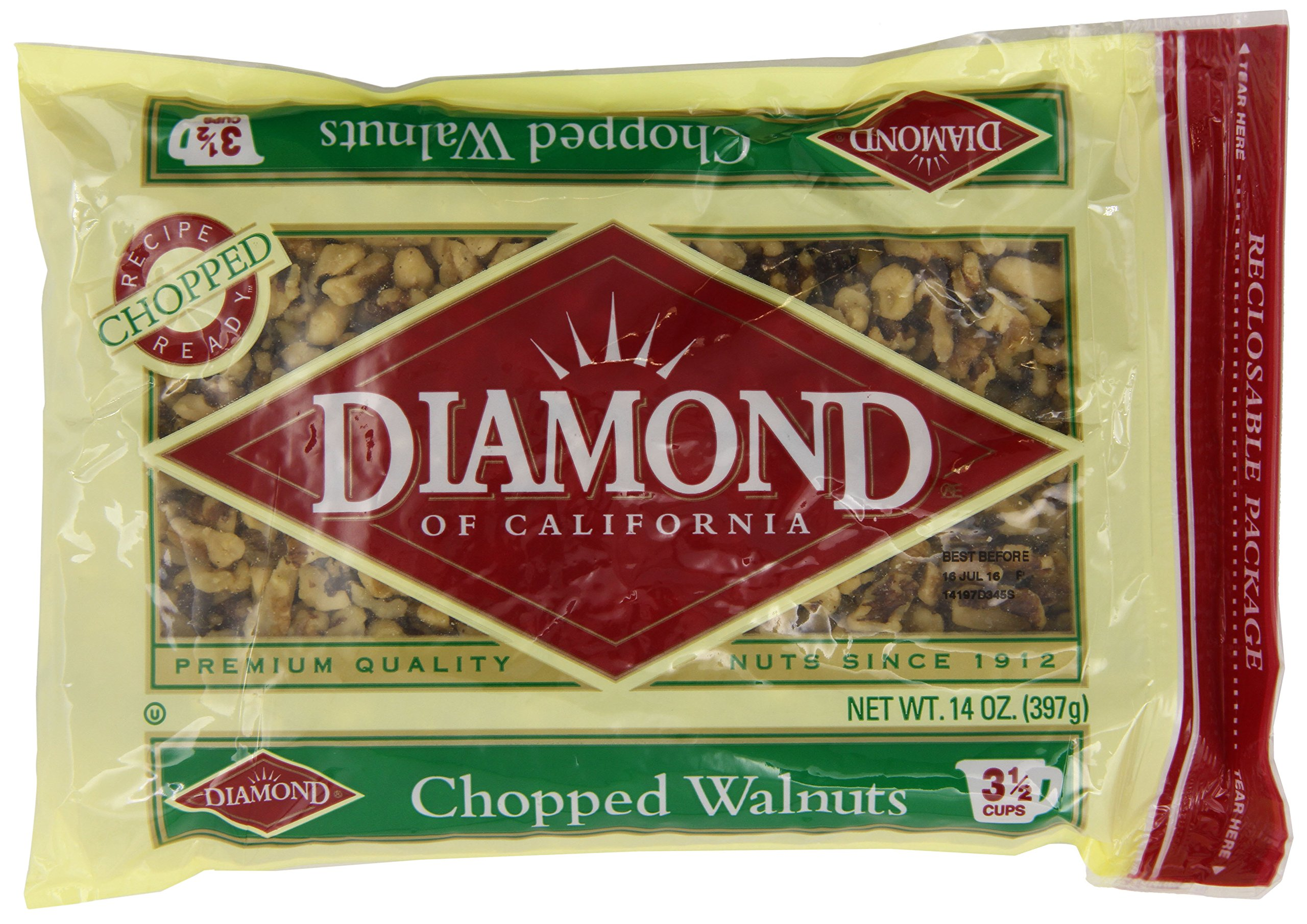 Diamond of California, Chopped Walnuts, 14 Ounce (Pack of 12) by Emerald