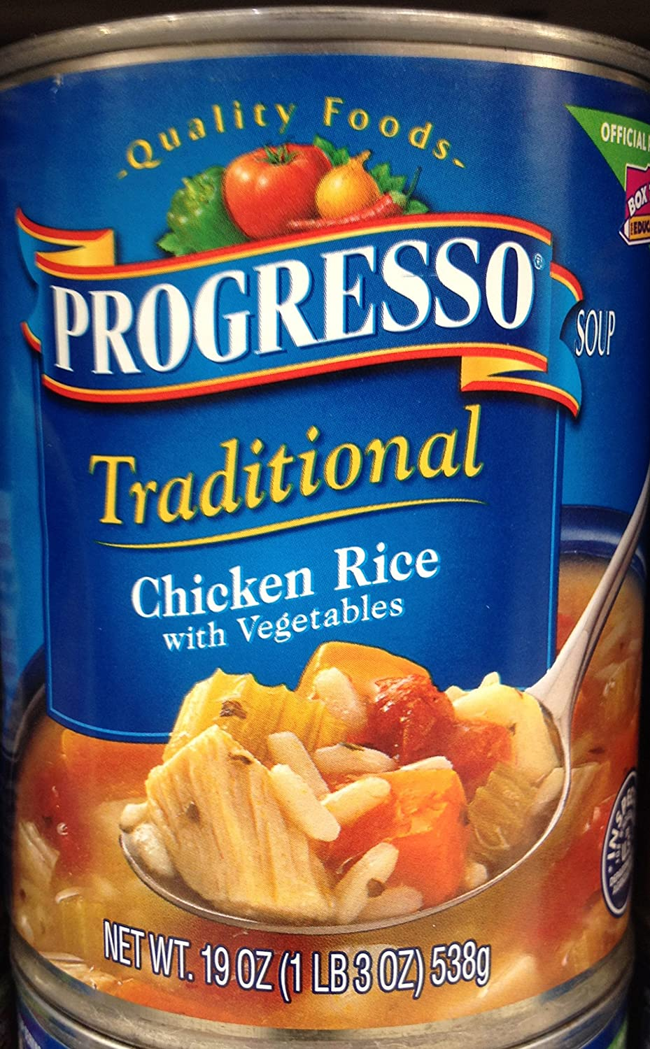 Progresso Traditional Chicken Rice with Vegetables Soup 19oz Can (Pack of 5)