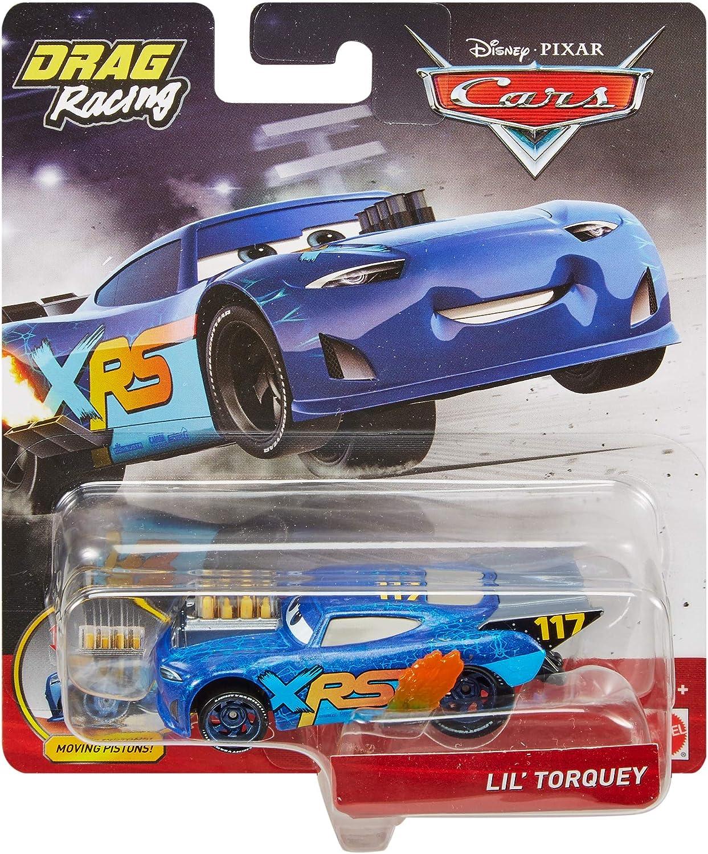 "DISNEY CARS DIECAST Xtreme Racing Series XRS Drag Racing-Lil /""Torquey"
