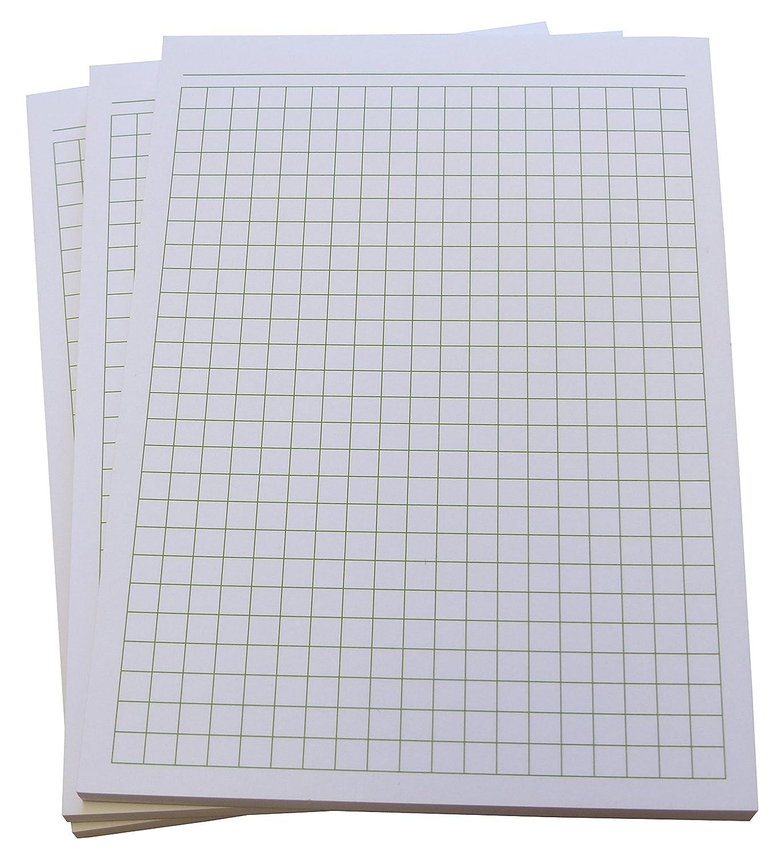 Blocchi per appunti, vari colori e quantità,50fogli a quadretti, DIN A6, di alta qualità, carta Offset 80g/m² 8 Stück Pink (22392) Druckerei Scharlau