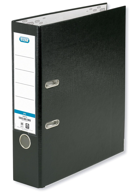Elba Rado Top - Archivador palanca forrado en polipropileno, A4, color negro: Amazon.es: Oficina y papelería