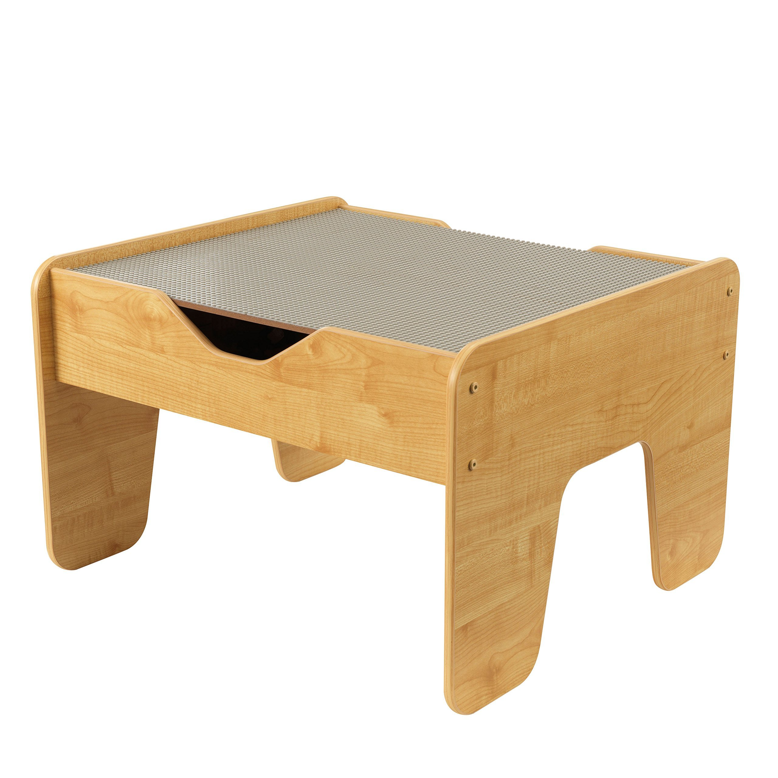 KidKraft 2-in-1 Activity Table with Board, Gray/Natural (Renewed) by KidKraft