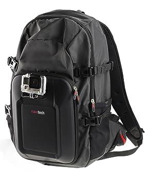 Navitech Action Kamera Rucksack mit Rot Aufbewahrungskoffer und Integriertem Brustgurt Kompatibel mit der GoXtreme Blackhawk
