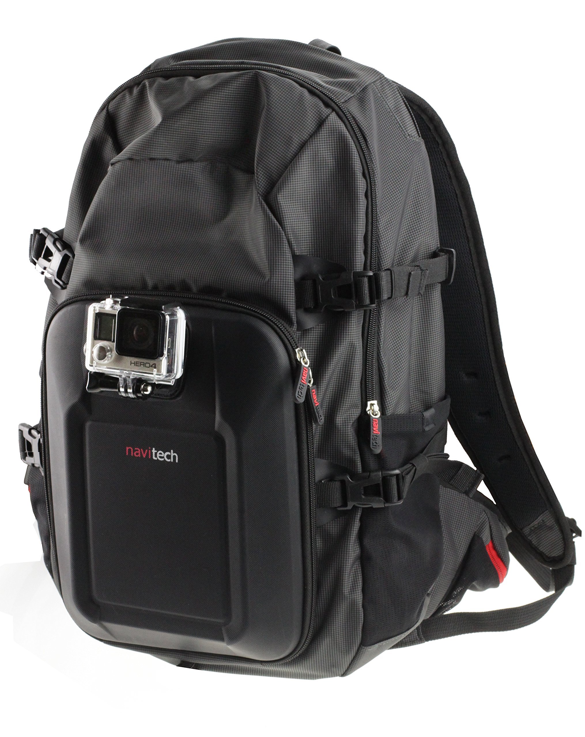 Navitech Action Camera Backpack With Integrated Chest Strap Compatible With The MixMart 360 ° Action Camera Panoramic Camcorder WiFi 2448 2448 Ultra HD 30fps with 220 ° Fish-eye Lens by Navitech