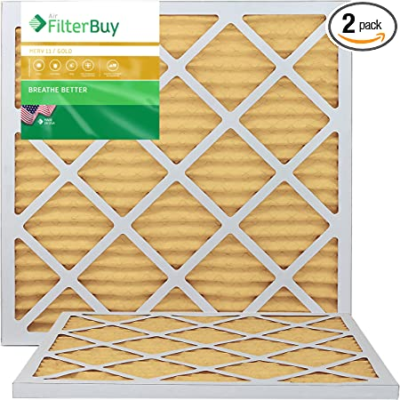 Pack of 2 Filters Silver 20x20x1 FilterBuy 20x20x1 MERV 8 Pleated AC Furnace Air Filter,