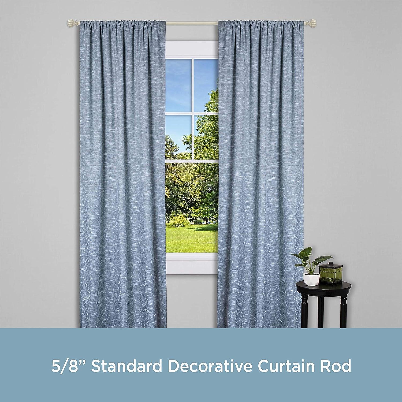 Kenney Rachel Standard Decorative Window Curtain Rod, 48 to 86-Inch, Antique White: Home & Kitchen