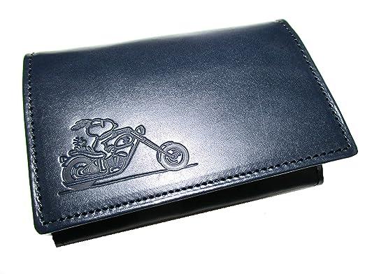 13020aadd0ee (スヌーピー) SNOOPY ブランド メンズ 財布 名刺入れ カードケース 牛革レザー 「RIDER」