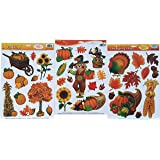 Thanksgiving and fall leaves window clings for Amazon gelbsticker