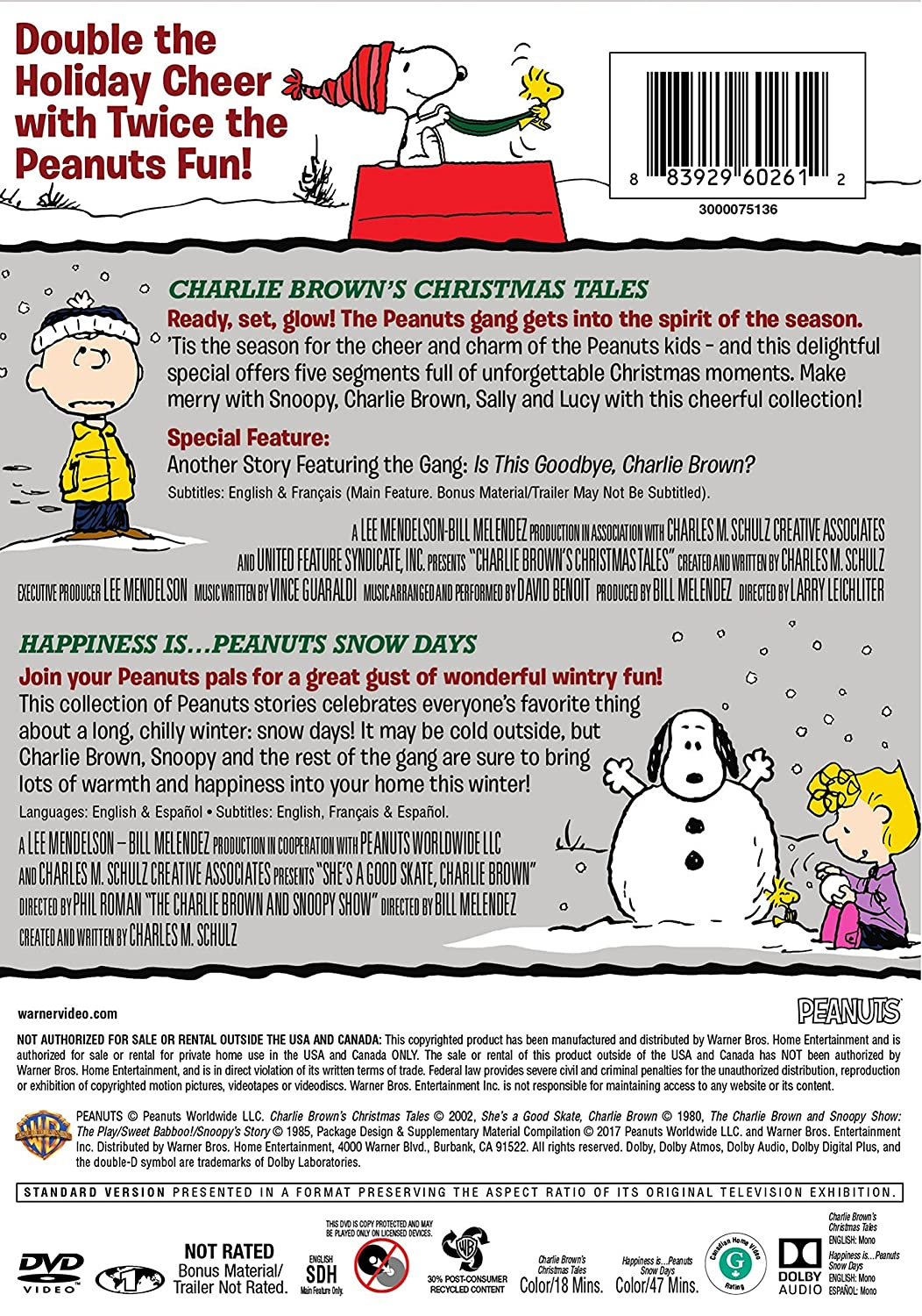 Amazon.com: Charlie Brown\'s Christmas Tales/Happiness is…Peanuts ...