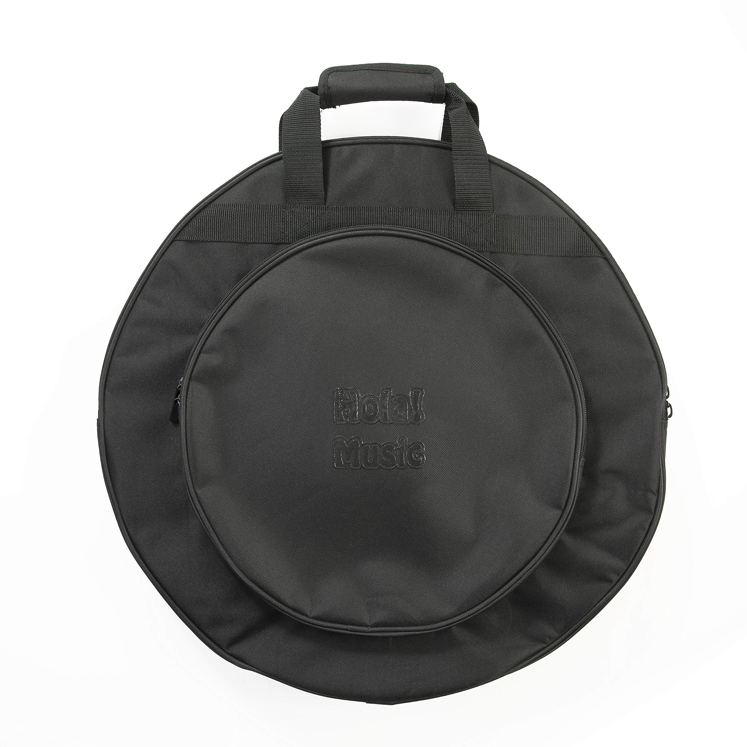 22'' Cymbal Bag by Hola! Music, 3 Inner Compartments, 17'' Pocket and Backpack Straps