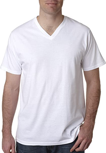 55406ede7ebb Amazon.com  Anvil Adult Tri-Blend V-Neck Tee (White) (M)  Sports ...