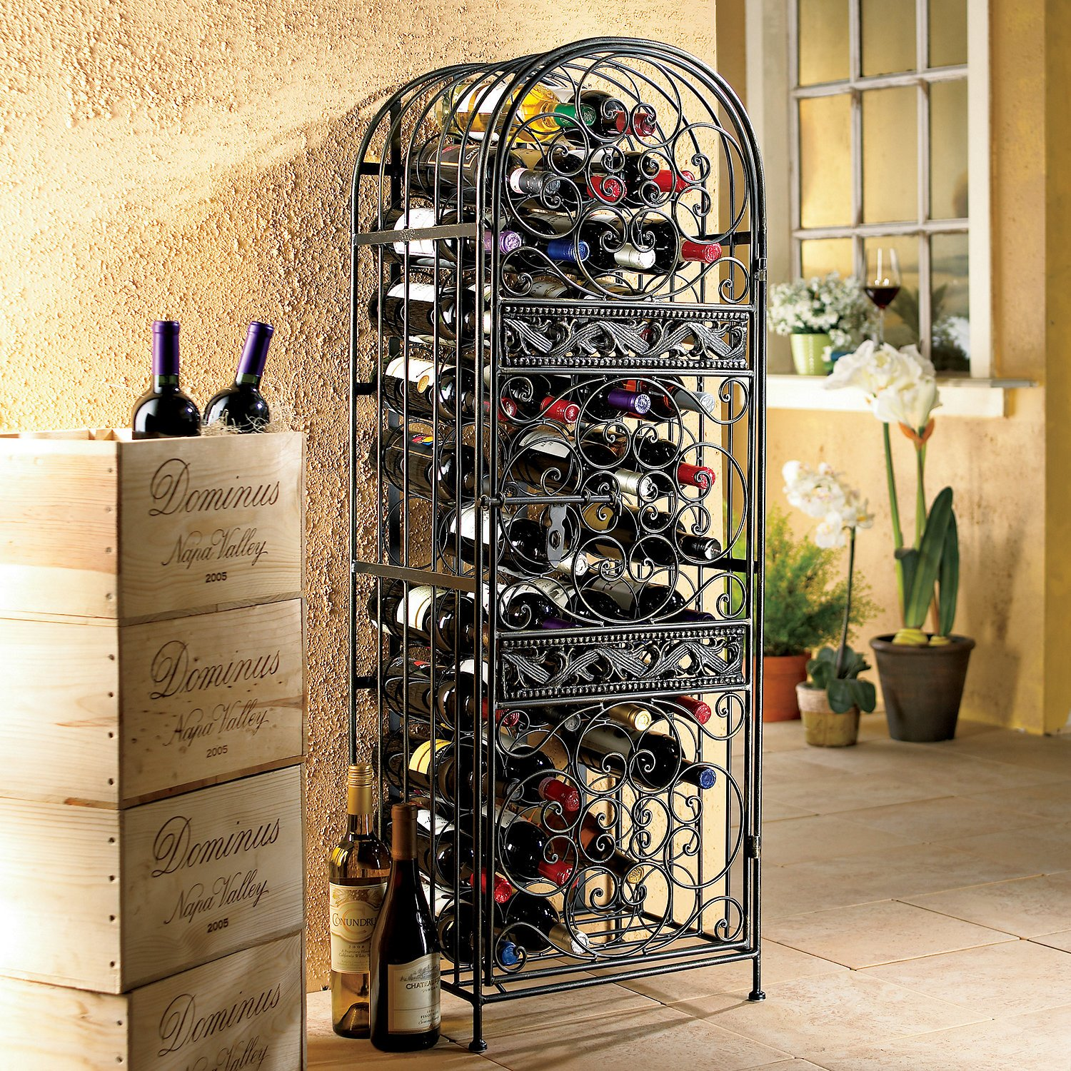 Wine Enthusiast Renaissance Wrought Iron Wine Jail by Wine Enthusiast (Image #1)