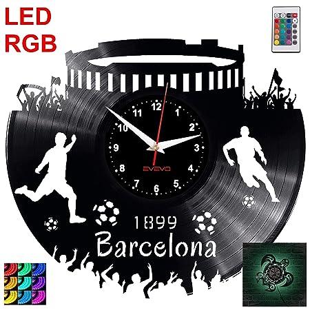 EVEVO Barcelona Reloj de Pared RGB LED Pilot Reloj de Pared ...