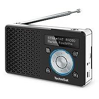 TechniSat Digitradio 1 Digital-Radio Made in Germany (klein, tragbar, für Outdoor geeignet) mit Lautsprecher, OLED-Display, DAB+, UKW, Favoritenspeicher und leistungsstarkem Akku, schwarz/Silber