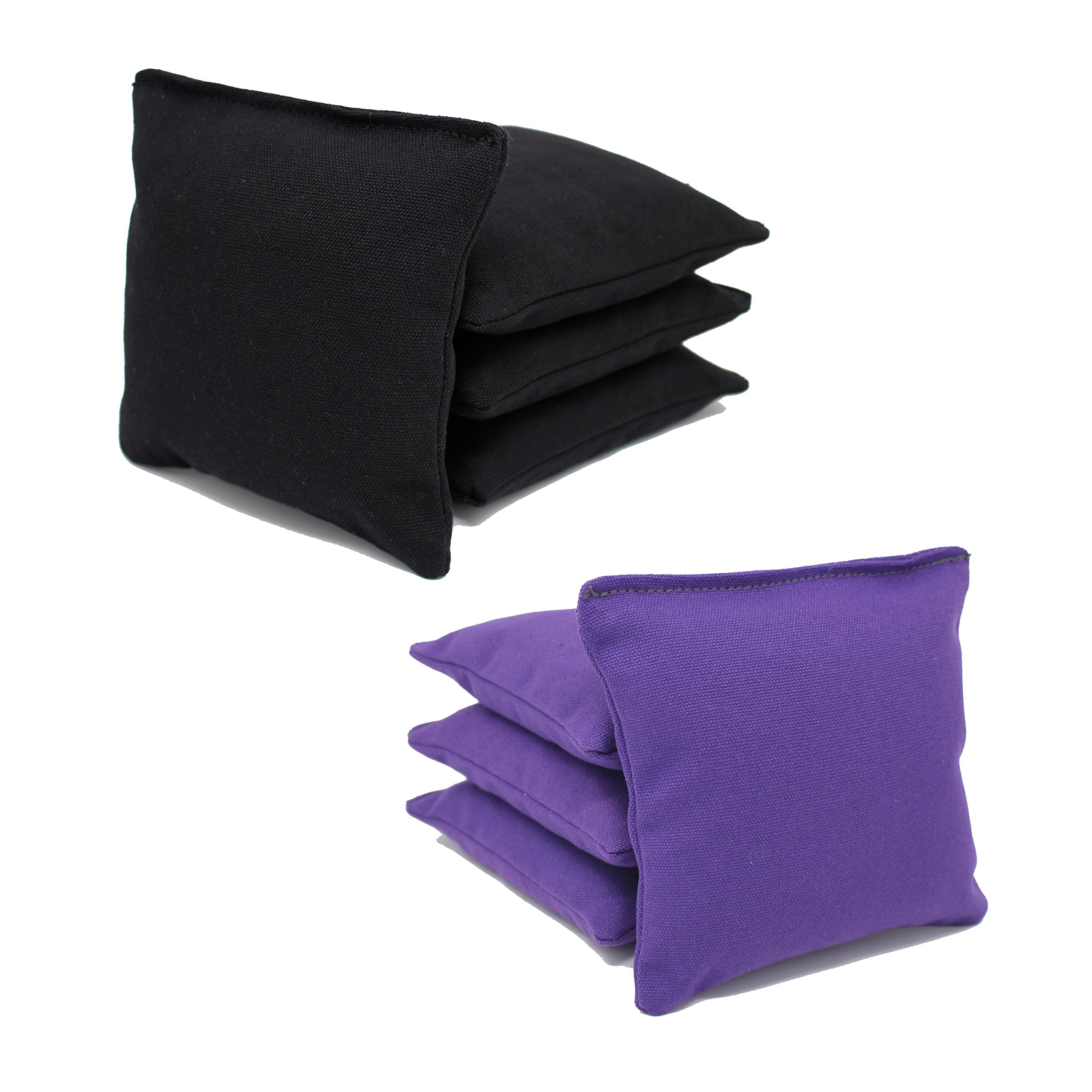 Free Donkey Sports ACA Regulation Cornhole Bags (Set of 8) (Black and Purple) 25+ Colors to Choose from.