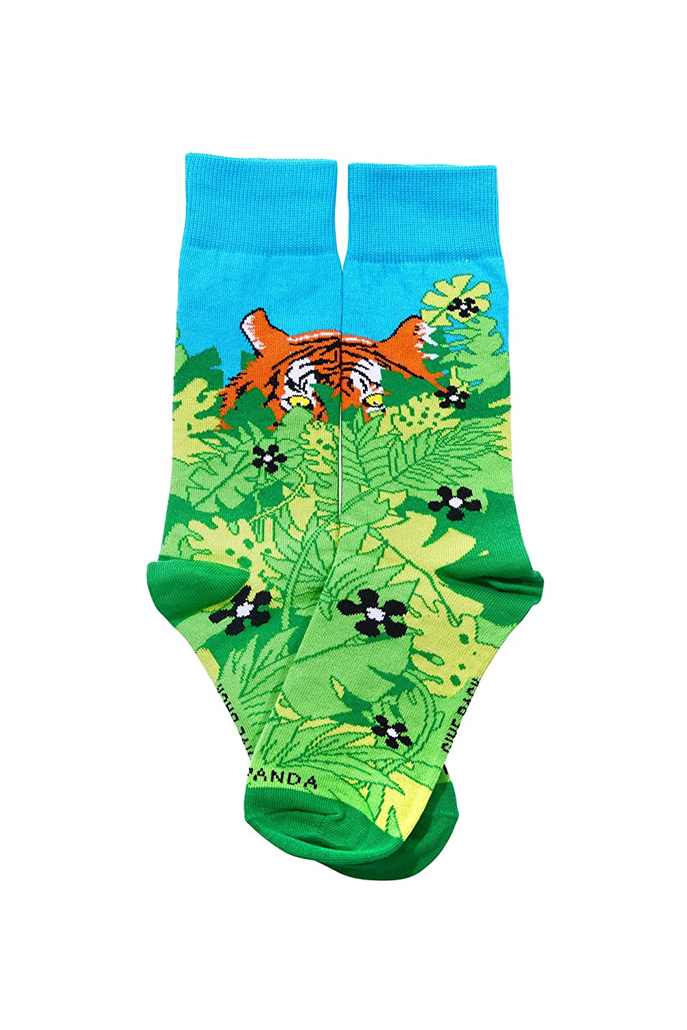 Hidden Tiger Tween Sized Socks from the Sock Panda
