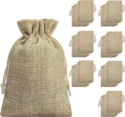 Amazon.com: Bolsas de arpillera con cordón de arpillera ...