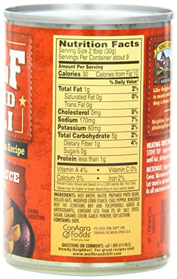 WOLF BRAND Chili Hot Dog Sauce, 10 oz: Amazon.com: Grocery ...