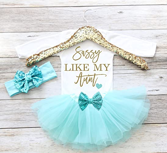 71d205e04c9be Amazon.com: Baby Girl Clothes Sassy Like My Aunt, Newborn Coming ...