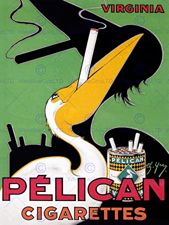 Amazon.com: ADVERT PELICAN CIGARETTES VINTAGE SMOKING VINTAGE ...