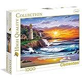 Clementoni - Puzzle de 1000 piezas Faro al atardecer (39368)