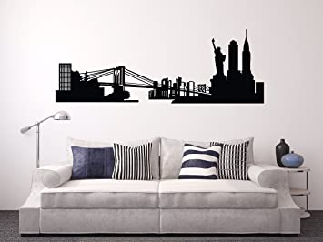 Amazon.com: Nueva York calcomanía de pared ciudad de Nueva ...