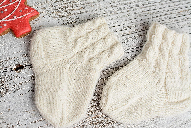 baby socks sheep wool organic knitted socks clothing Unique handmade newborn