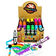 Incredible Value Dot Markers Class Pack in 36 Pack, School and Class Supplies of Dabbers, Daubers, Washable Art Markers in Bulk