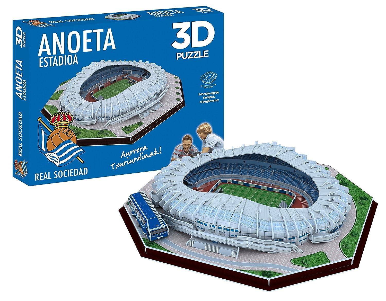 Real Sociedad Puzzle 3D Estadio Anoeta (Producto Oficial), Ninguna (Eleven Force 63485): Amazon.es: Juguetes y juegos