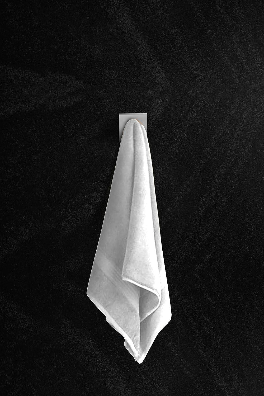Ambrosya/® Scaldasalviette esclusivo in acciaio inox Spazzolato Asciugamano Gancio Appendiabiti Acciaio inossidabile