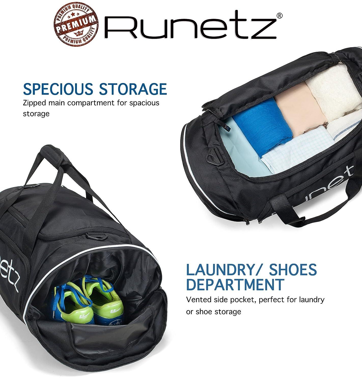 28968b5adba8 Amazon.com  Runetz - Gym Bag for Women and Men - Ideal Workout Overnight  Weekend Bag - Sport Duffle Bag - Large Size