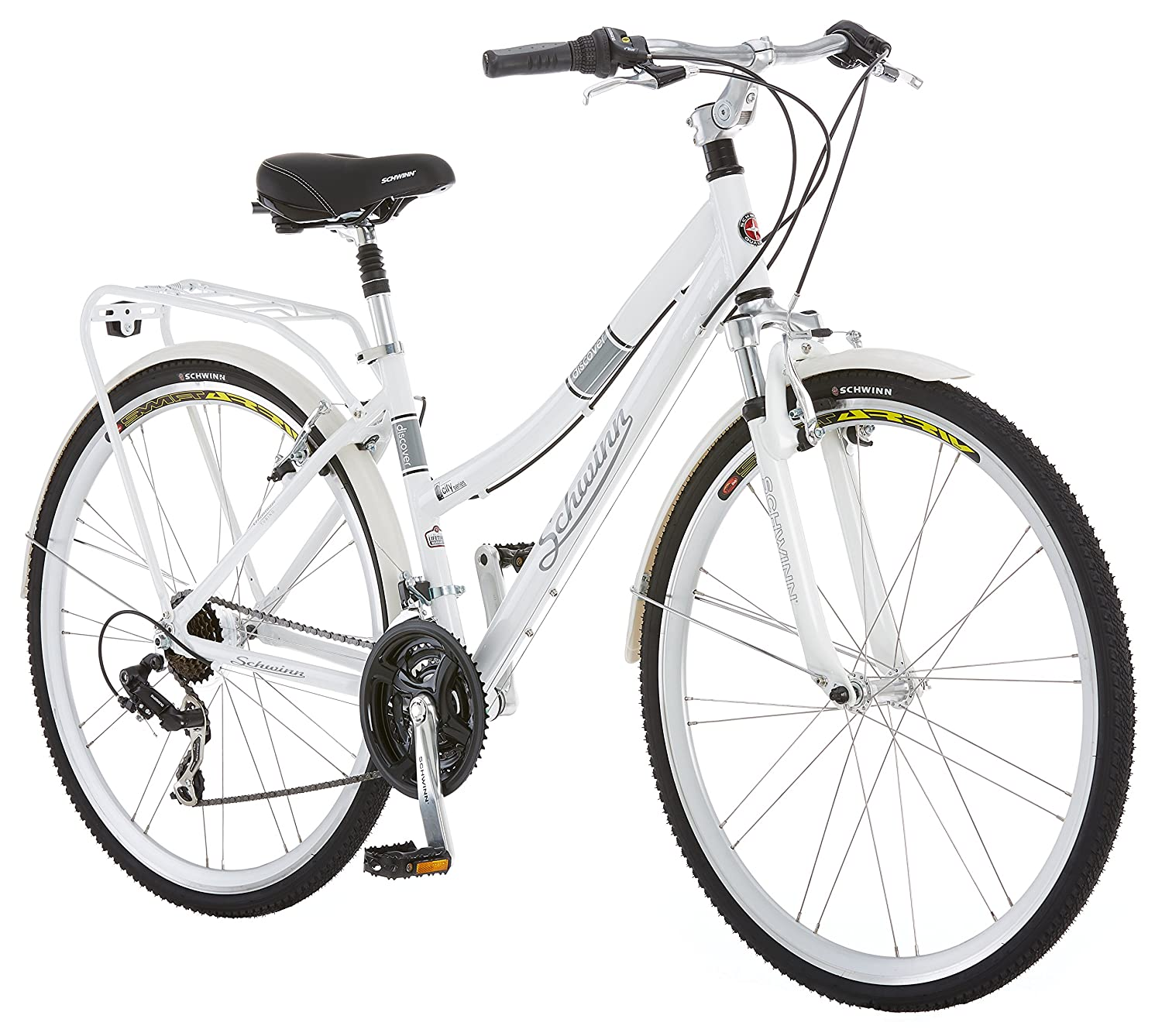 Schwinn Discover Hybrid Bike for Men and Women, Small