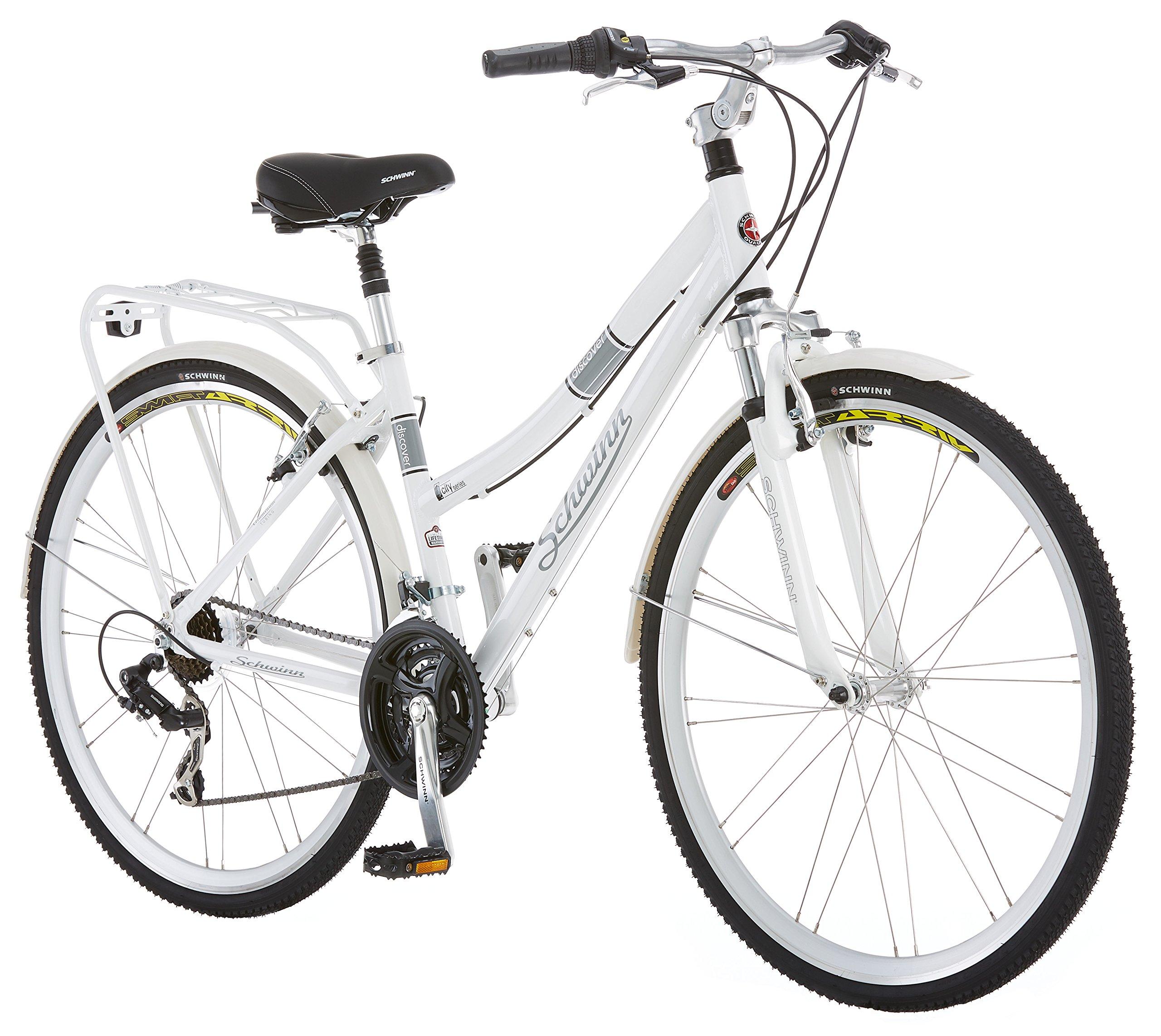 Schwinn Discover Women's Hybrid Bike (700C Wheels),White,28''