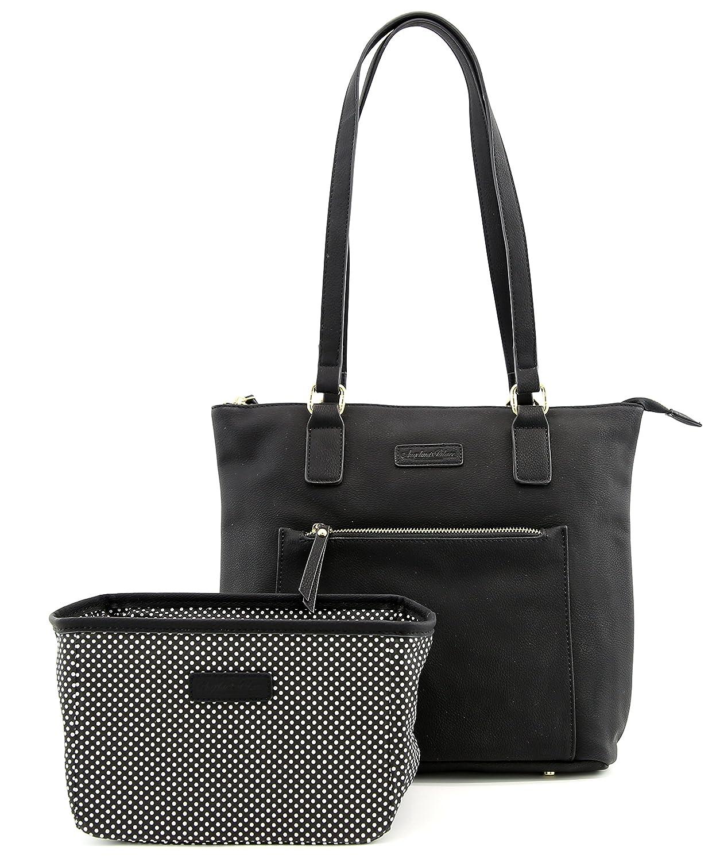 Black Tote bag Angelina's Palace Shoulder Bag Organizer Insert Sturdy Zipper