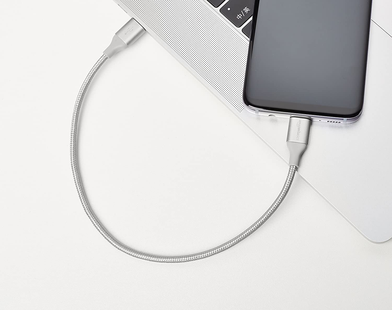 Rouge Basics C/âble en nylon /à double tressage USB de type C vers port de type C 2.0 0,9 m