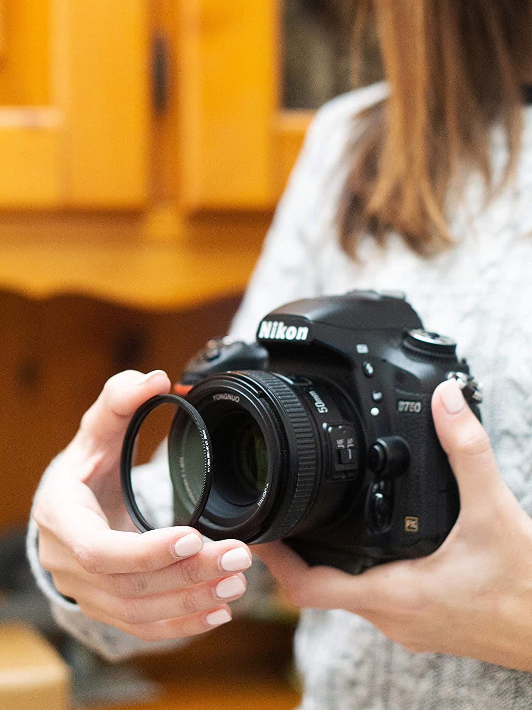 Marco de Aluminio fresado CNC Ultra-Slim Photography Filter Vidrio /óptico de Jap/ón Filtro UV Weather-Sealed 58mm para Nikon Sony Canon Fujifilm Olympus Tamron Sigma Pentax Nano Coatings