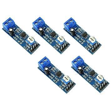 5 unidades LM386 Amplificador de Audio Módulo 200x Amplificación de Sonido de Alta Ganancia con Amplio