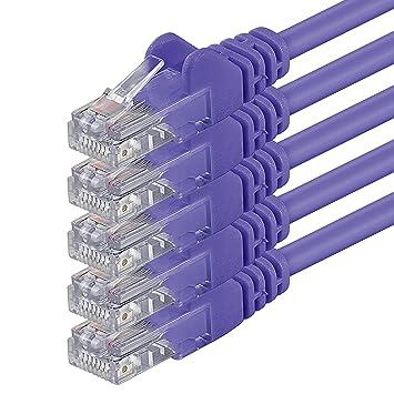 0,25m - púrpurat - 5 Piezas - Cable de Red Ethernet con Conectores ...