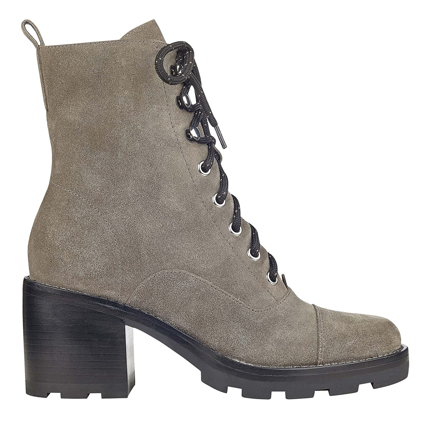 Marc Fisher Womens Wanya Suede Almond Toe Ankle Fashion Boots B079YWVG3T 6.5 B(M) US|Grey Suede