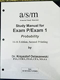 asm soa study manual exam p 17th edition 2016 dr krzysztof rh amazon com FFIEC BSA AML Exam Manual asm exam p study manual