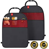 ROYAL RASCALS Kick Mats for Car Seat x2 - Protects Upholstery from Stains & Damage - Universal Size with Organiser Pockets - Kick & Stain Protection - Heavy Duty Car Seat Protectors for Back of Seats