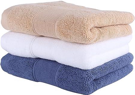Set de 3 toallas de mano de lujo de algodón egipcio 700 GSM (36cm x 76cm) - uso multiuso para baño, mano, rostro, gimnasio y spa: Amazon.es: Hogar